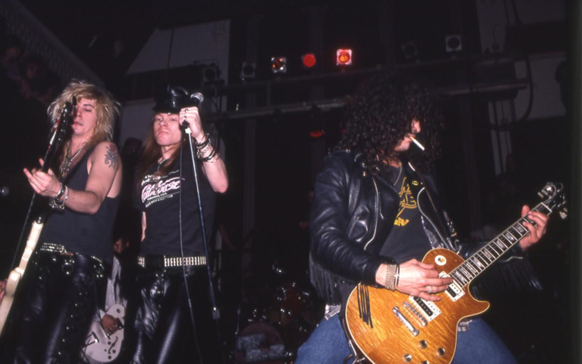Guns N' Roses Axl Duff and Slash 1988