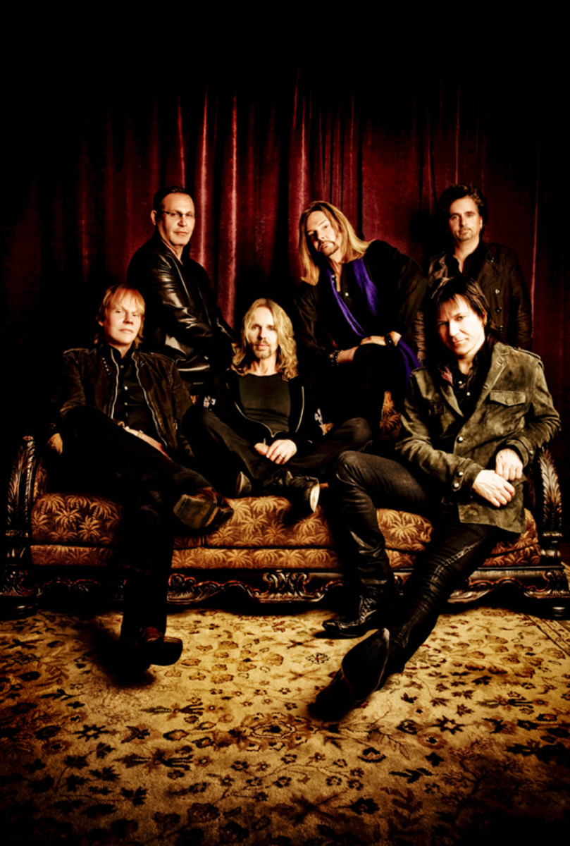 Today, Styx's lineup is (top, from left) Chuck Panozzo, Ricky Phillips, Todd Sucherman; (bottom, from left) James 'JY' Young, Tommy Shaw and Lawrence Gowan. Ash Newell photo/publicity photo.