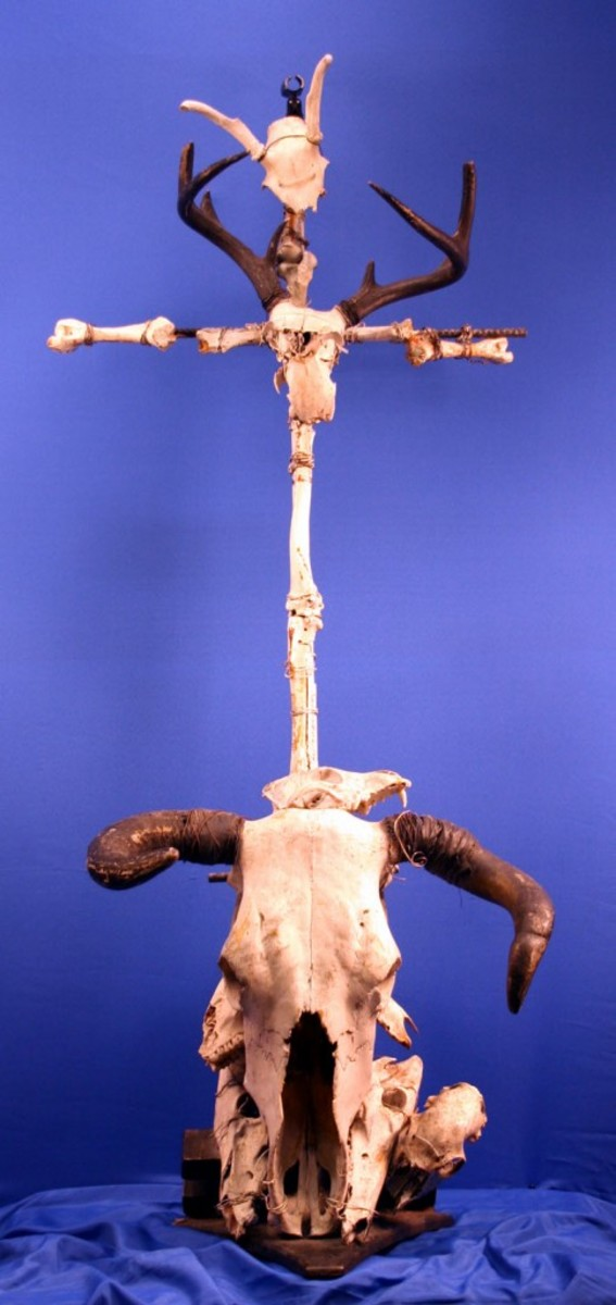 A Microphone stand from Ministry's Al Jourgensen. Photo courtesy of Backstage Auctions
