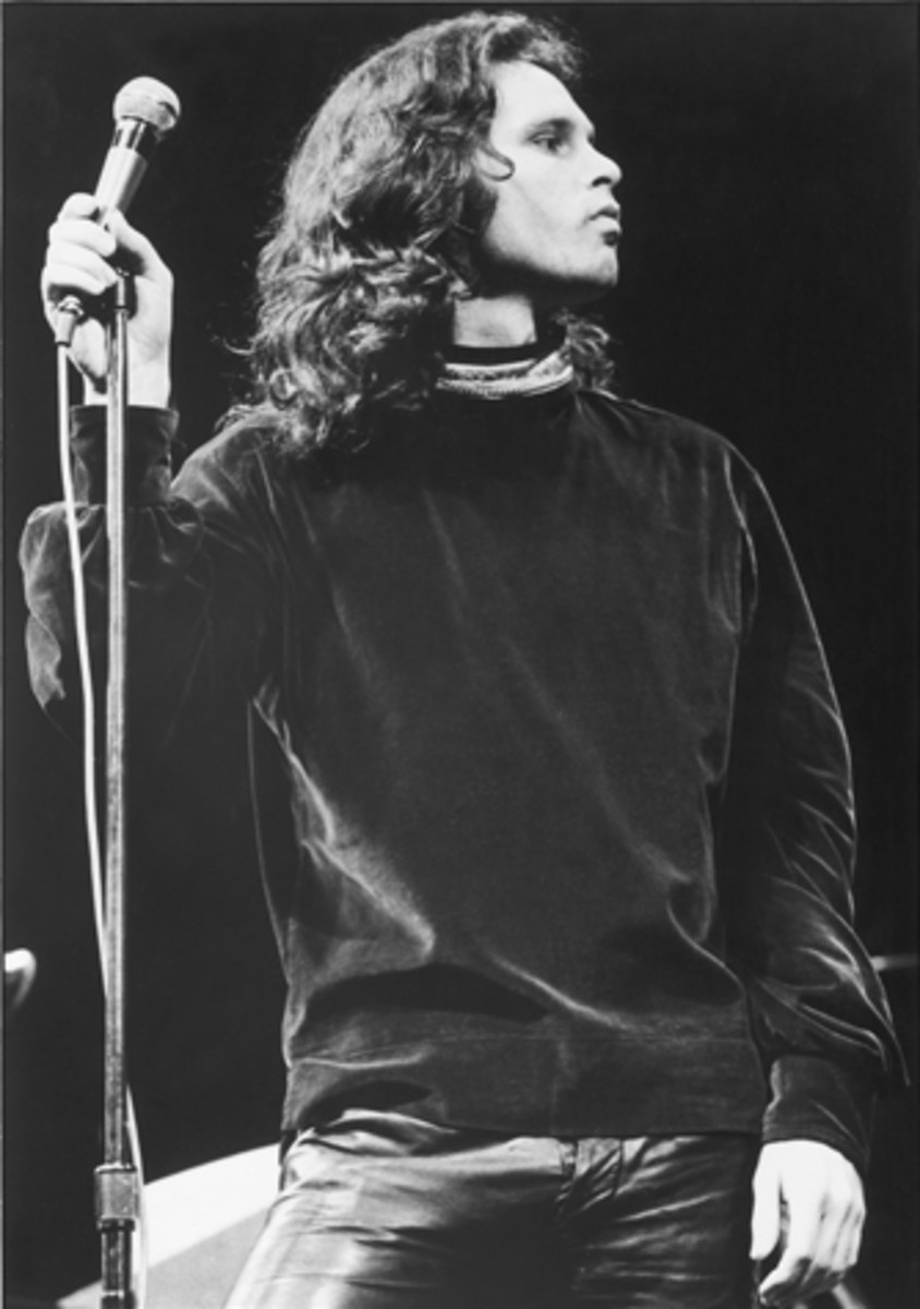 "IN 1970, JIM MORRISON was still reeling from the obscenity bust in Miami. Photo courtesy of David Sygal/""The Doors — The Illustrated History ""(1993)"