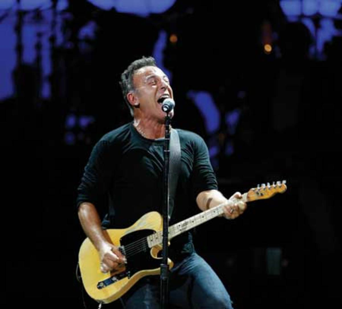 Bruce Springsteen and his E Street Band bring the same intensity onstage now, as shown at this performance at New York's Carnegie Hall on May 13, 2010, as 40 years ago. (AP Photo/Jason DeCrow).