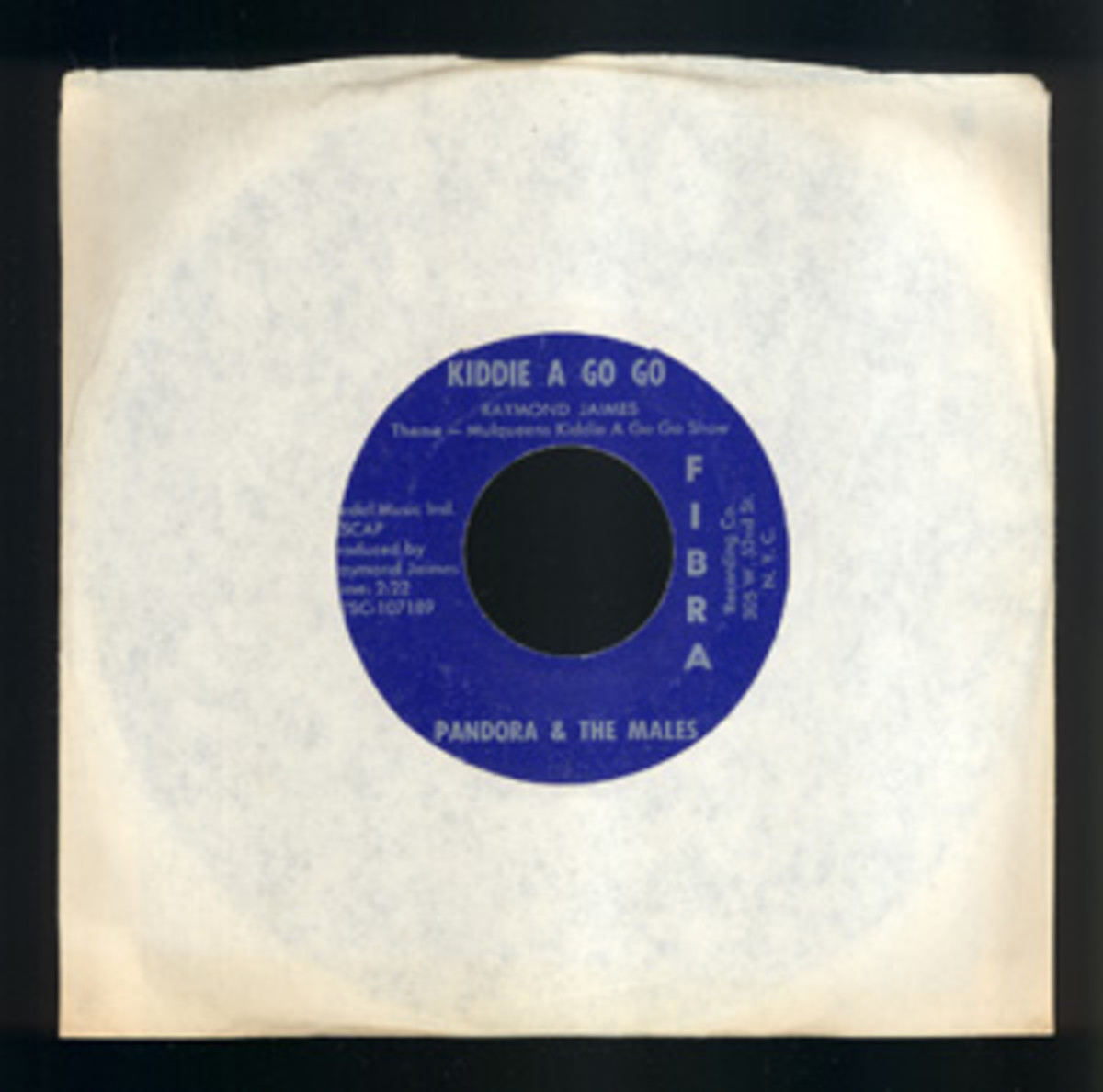 "Ted Nugent's first recording: 7"" of Pandora & The Males, ""Kiddie A Go Go."" Courtesy of Backstage Auctions"