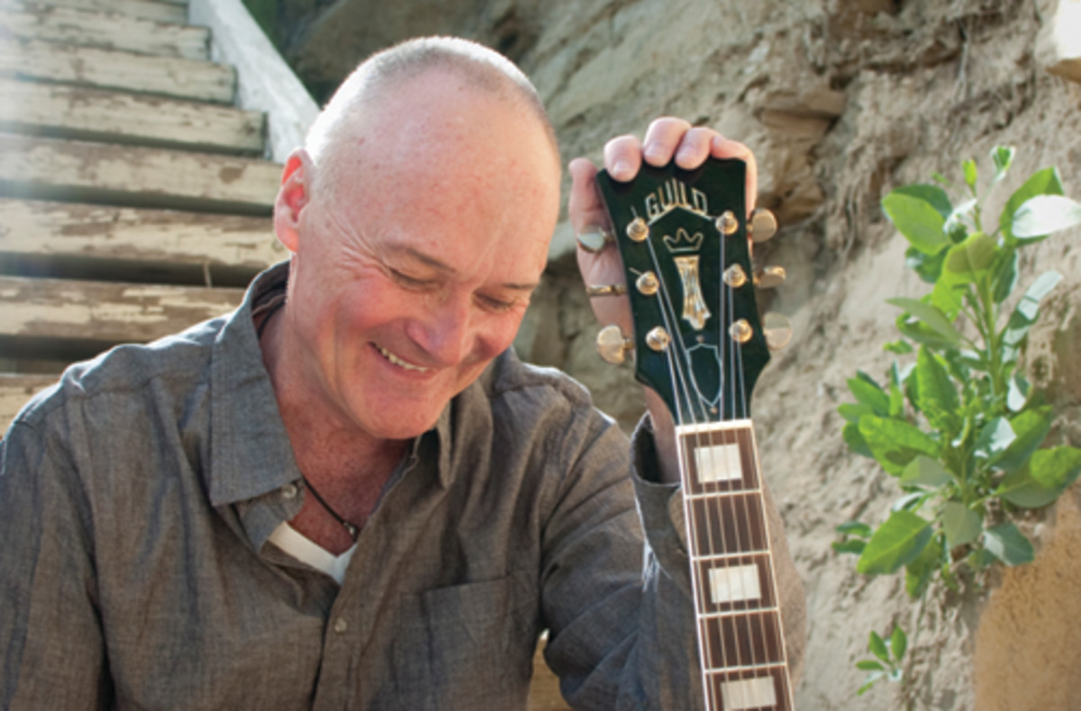 The Office/Grass Roots star, Creed Bratton, feels at home with his new music and guitar. Photo by Andrew Hreha