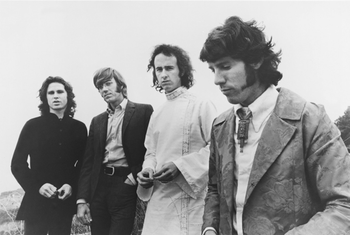 RAY MANZAREK (second from left) believes that a new generation can discover The Doors' passion and commitment to art. Photo courtesy Elektra Entertainment/Paul Ferarra