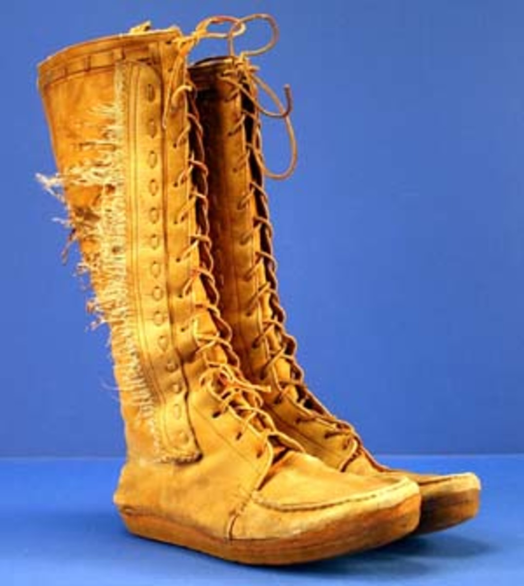 Uncle Ted's favorite Indian boots. Courtesy of Backstage Auctions