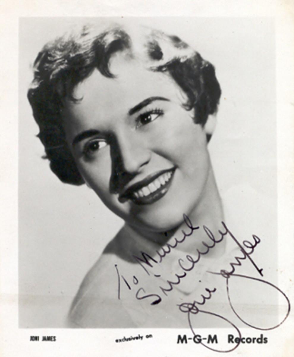 Joni James MGM publicity photo with autograph