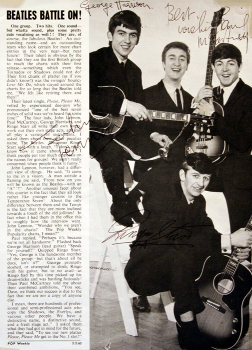 A 1963 program signed by all The Beatles from the collection of Walter O'Brien