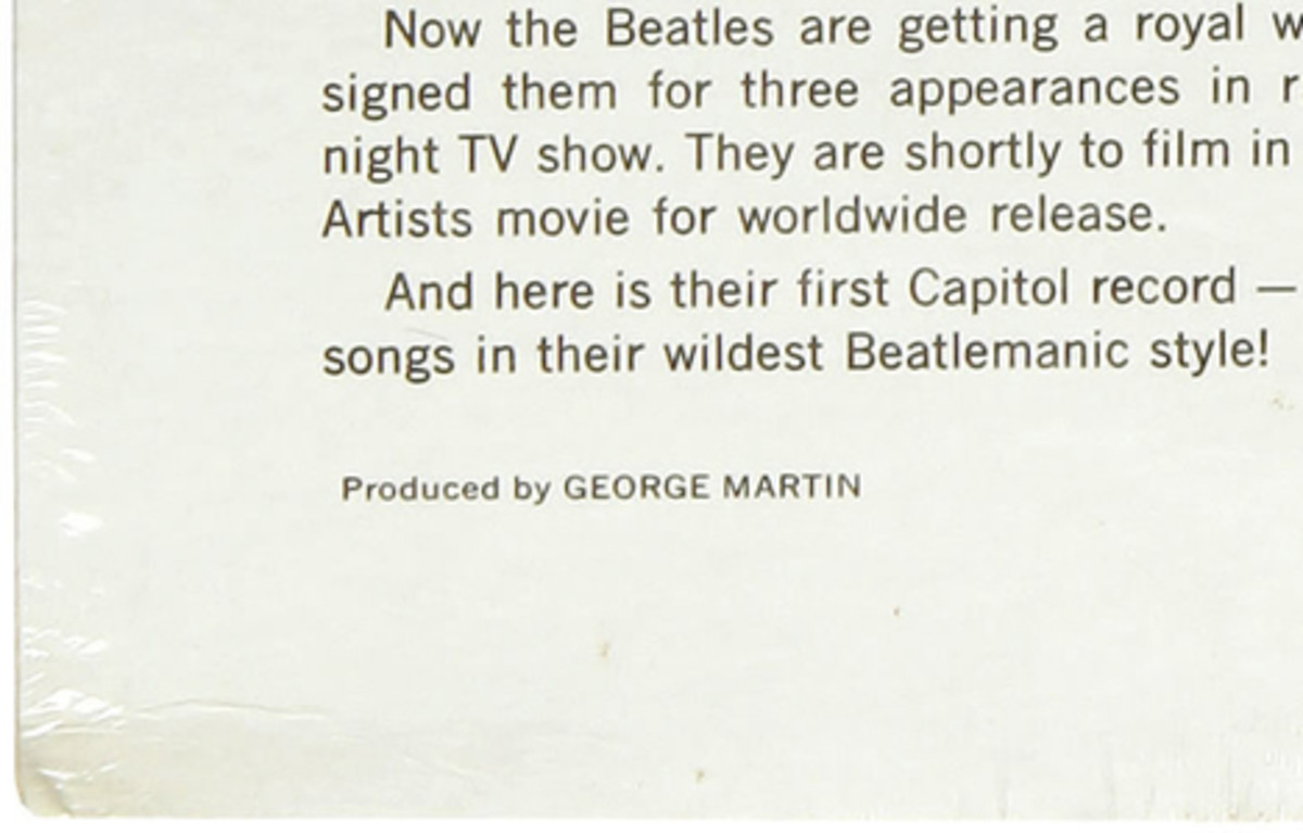 Meet The Beatles still sealed back cover