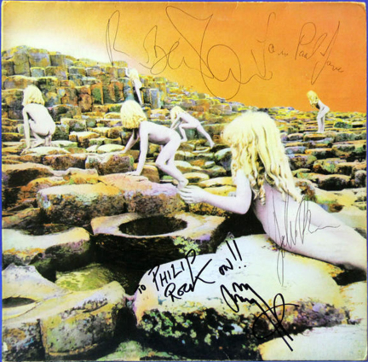 Led Zeppelin signed Houses of the Holy Album