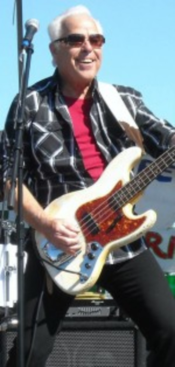"""Revere bassist Phil """"Fang"""" Volk.. """"We were musicians first,"""" states Volk. """"We just decided to wear Revolutionary War outfits and capitalize on Paul Revere's name."""""""