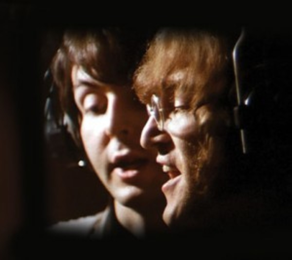 Lennon and McCartney in the studio. AP photo