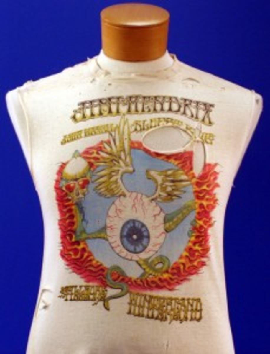Hendrix Fillmore 1968 ripped concert T-shirt