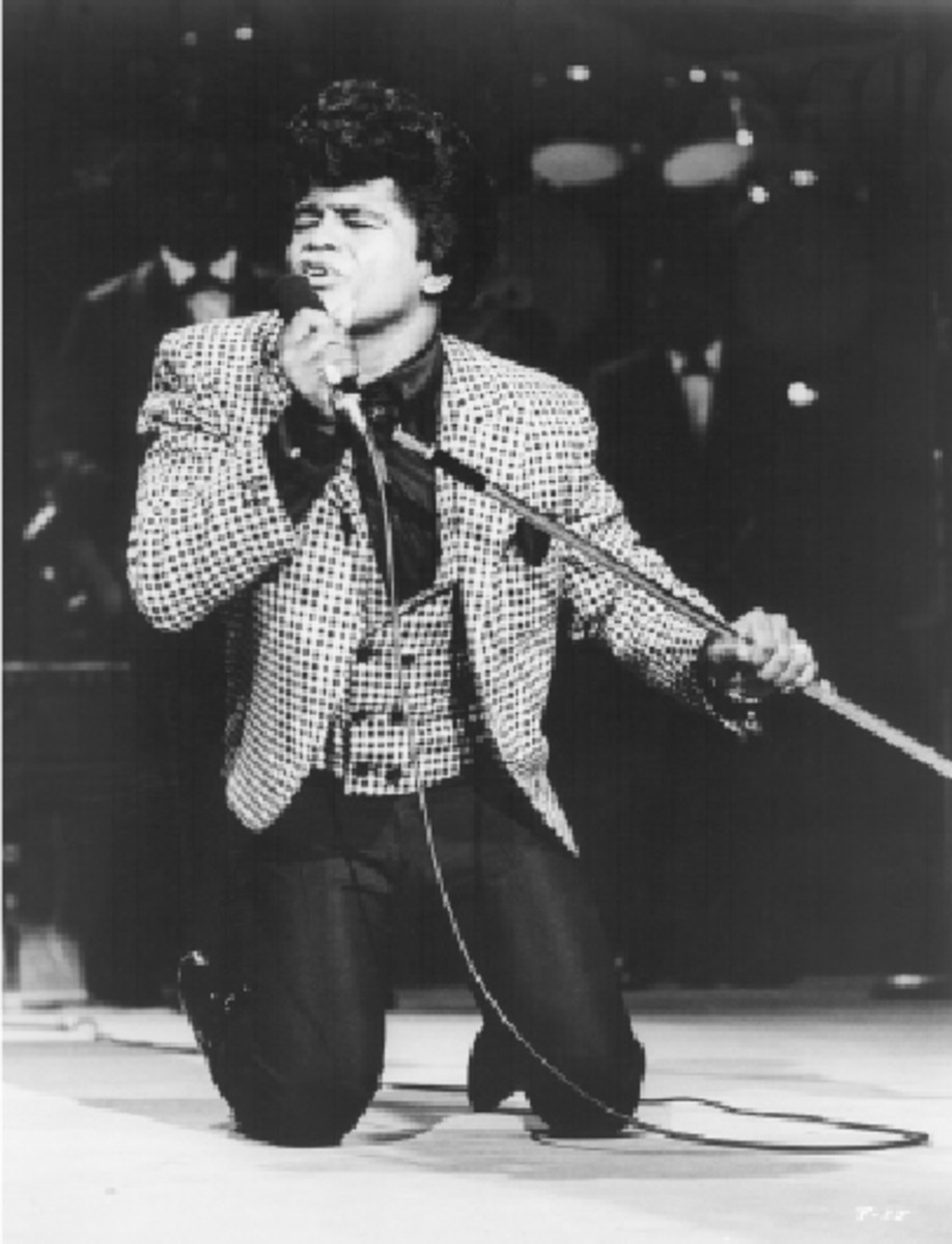 James Brown is among the performers honored on the Apollo Theater's Walk of Fame. Photo courtesy Shout! Factory