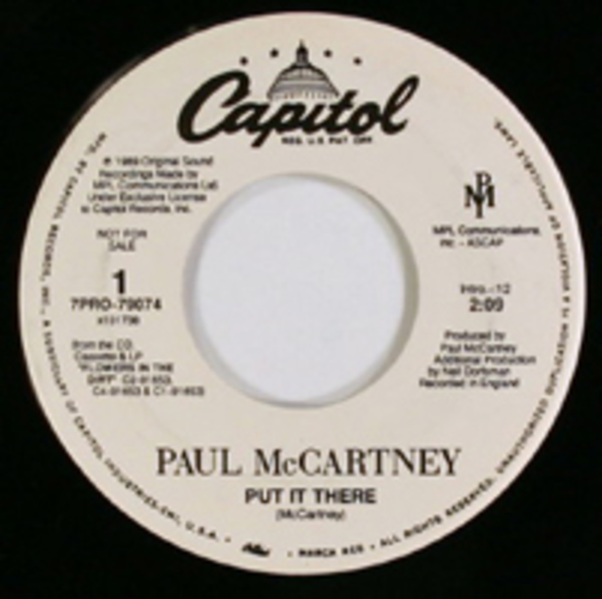 Paul McCartney Put It There Capitol records