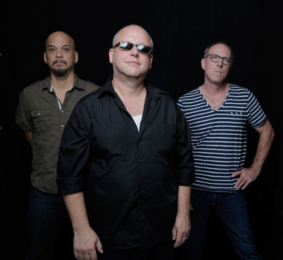 The Pixies (from left) Joey Santiago, Black Francis and David Lovering. Photo credit: Michael Halsband.