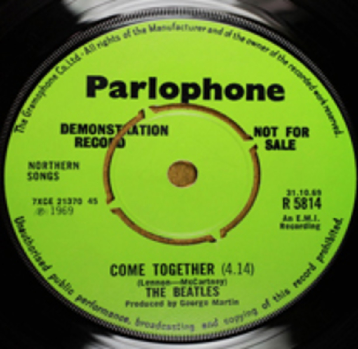 Beatles Parlophone Come Together promo