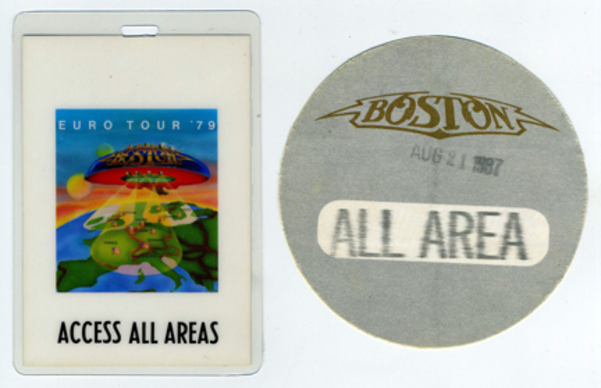 Boston backstage passes