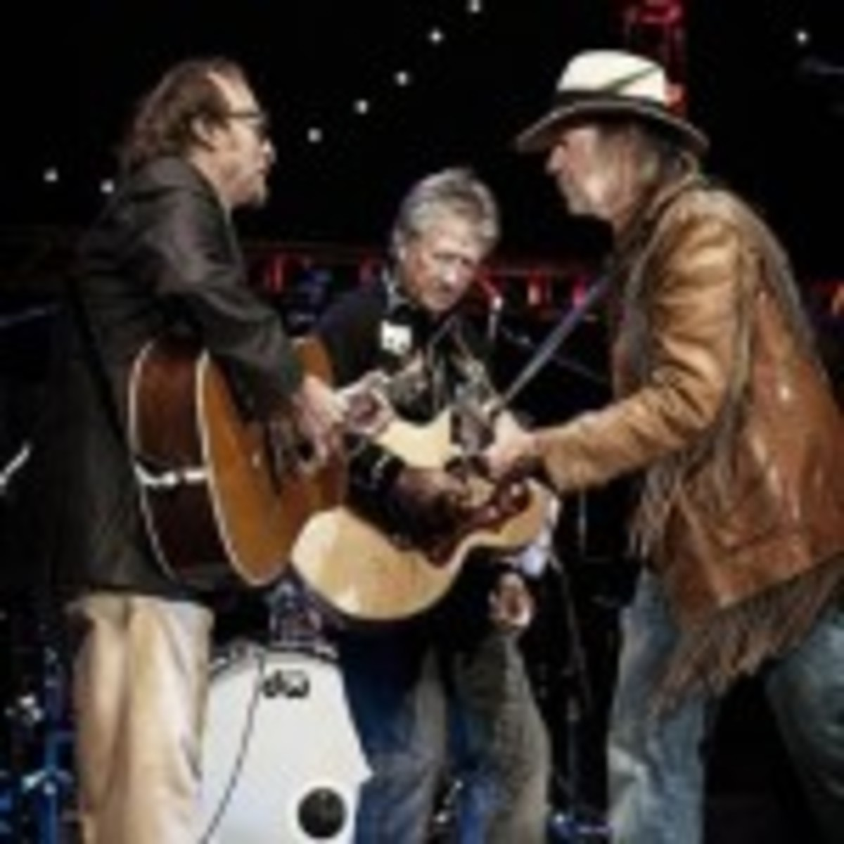 From left: Buffalo Springfield's Stephen Stills, Richie Furay and Neil Young (PR Newswire/Jay Blakesberg)
