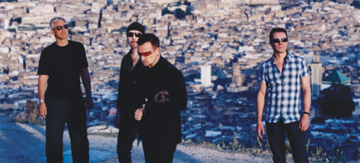 U2 Bono The Edge Larry Mullen and Adam Clayton
