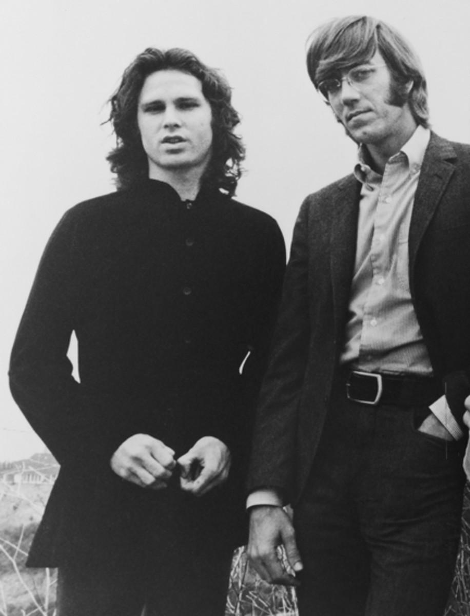Jim Morrison and Ray Manzarek of The Doors