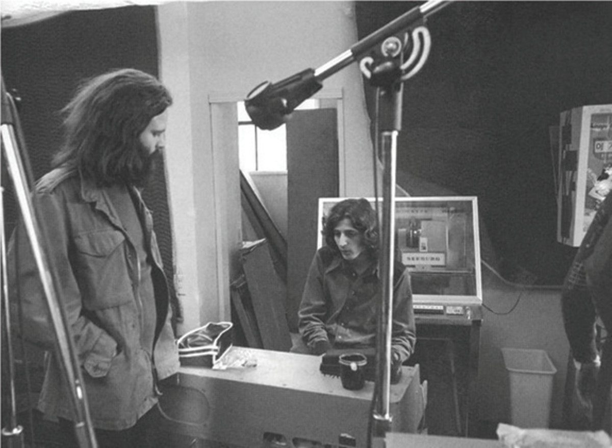 Jim Morrison of The Doors with guitarist Marc Benno