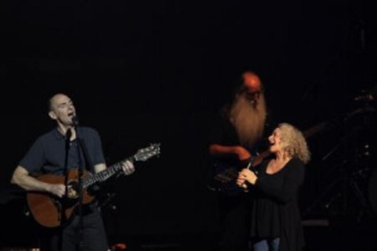 james taylor, lee, carole on stage by elissa kline