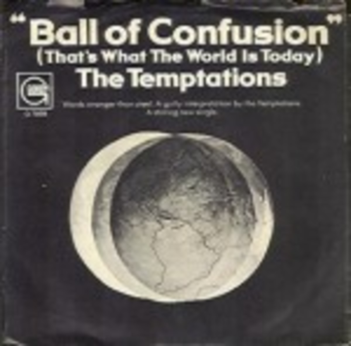 The Temptations Ball of Confusion picture sleeve