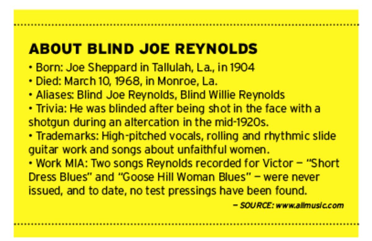 Blind Joe Reynolds biography