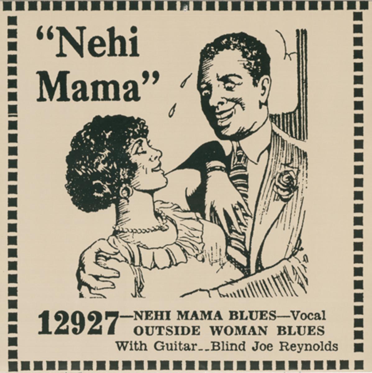 Blind Joe Reynolds Nehi Mama Blues Paramount 12927