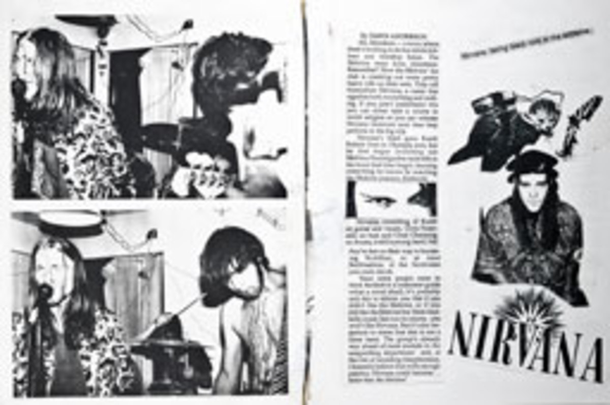 Nirvana press kit paste-up, ca. 1988-89. Experience Music Project permanent collection.