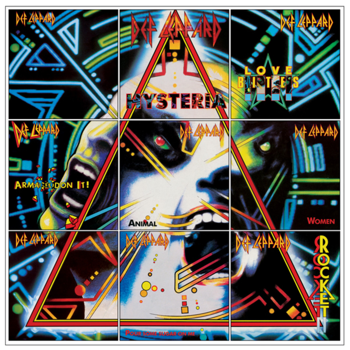 Andie Airfix Def Leppard Hysteria picture sleeves