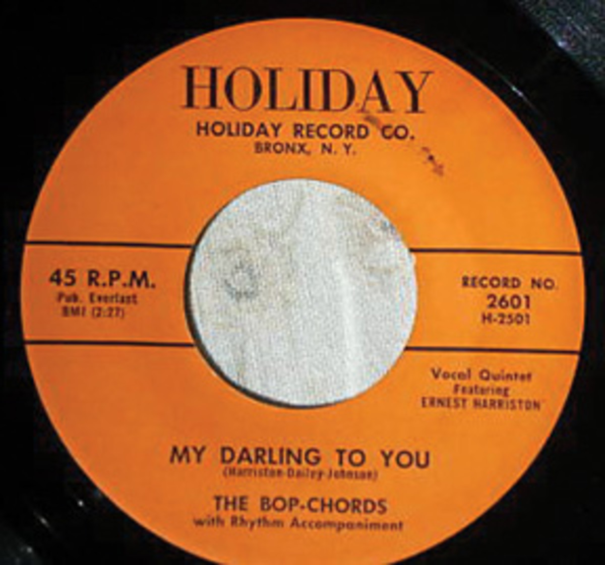 The Bop Chords My Darling To You