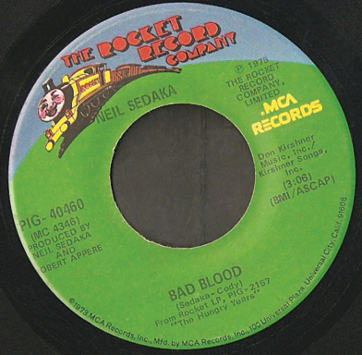 Neil Sedaka Bad Blood 45