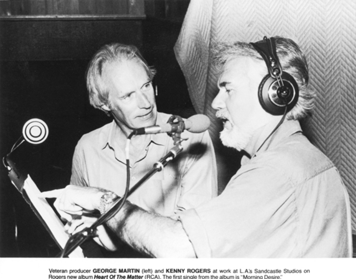 Sir George Martin record producer Kenny Rogers