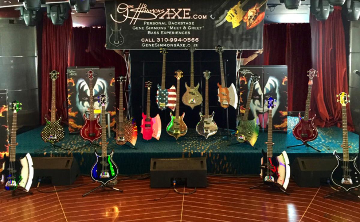 Gene Simmons' AXE Bass Display KK5 onboard the KISS Kruise.