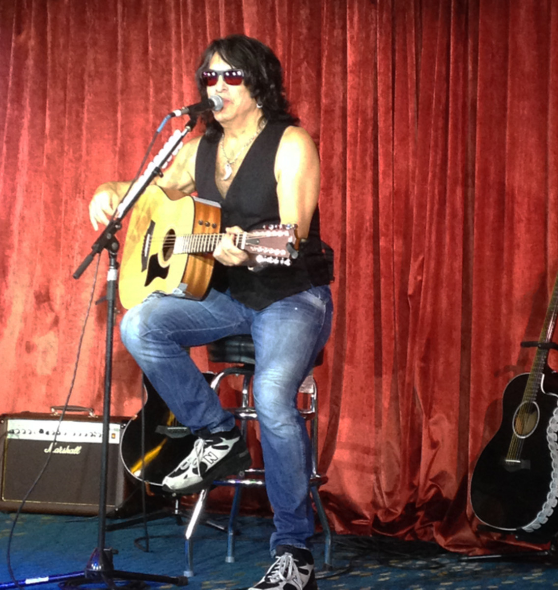 Paul Stanley during his KISS Kruise exclusive acoustic show. Photo by Ryan Barks