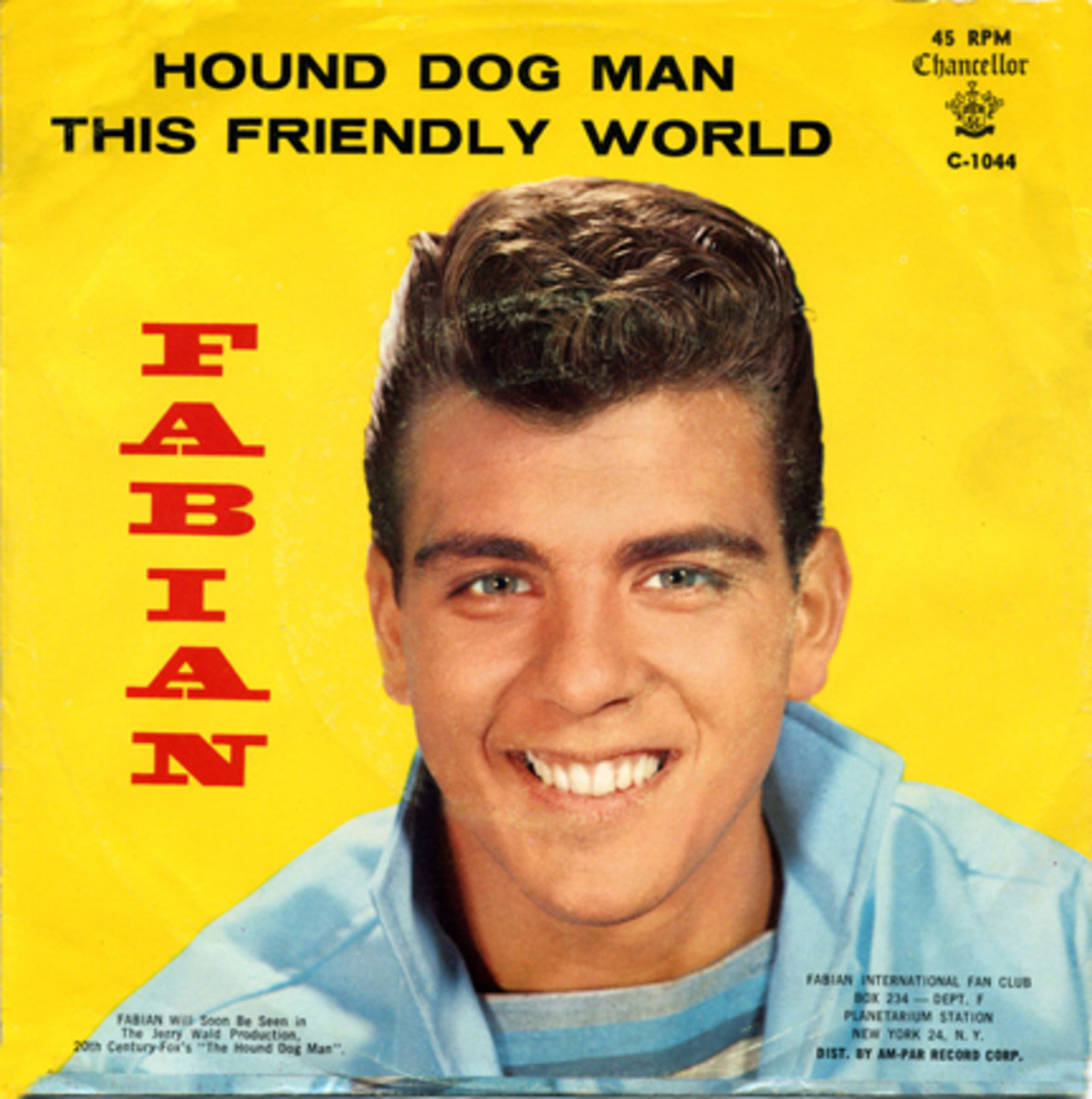 Fabian picture sleeve for Hound Dog Man and This Friendly World