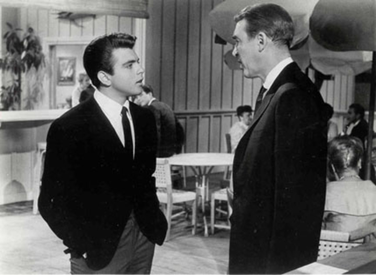 Fabian and Jimmy Stewart in Mr. Hobbs Takes a Vacation