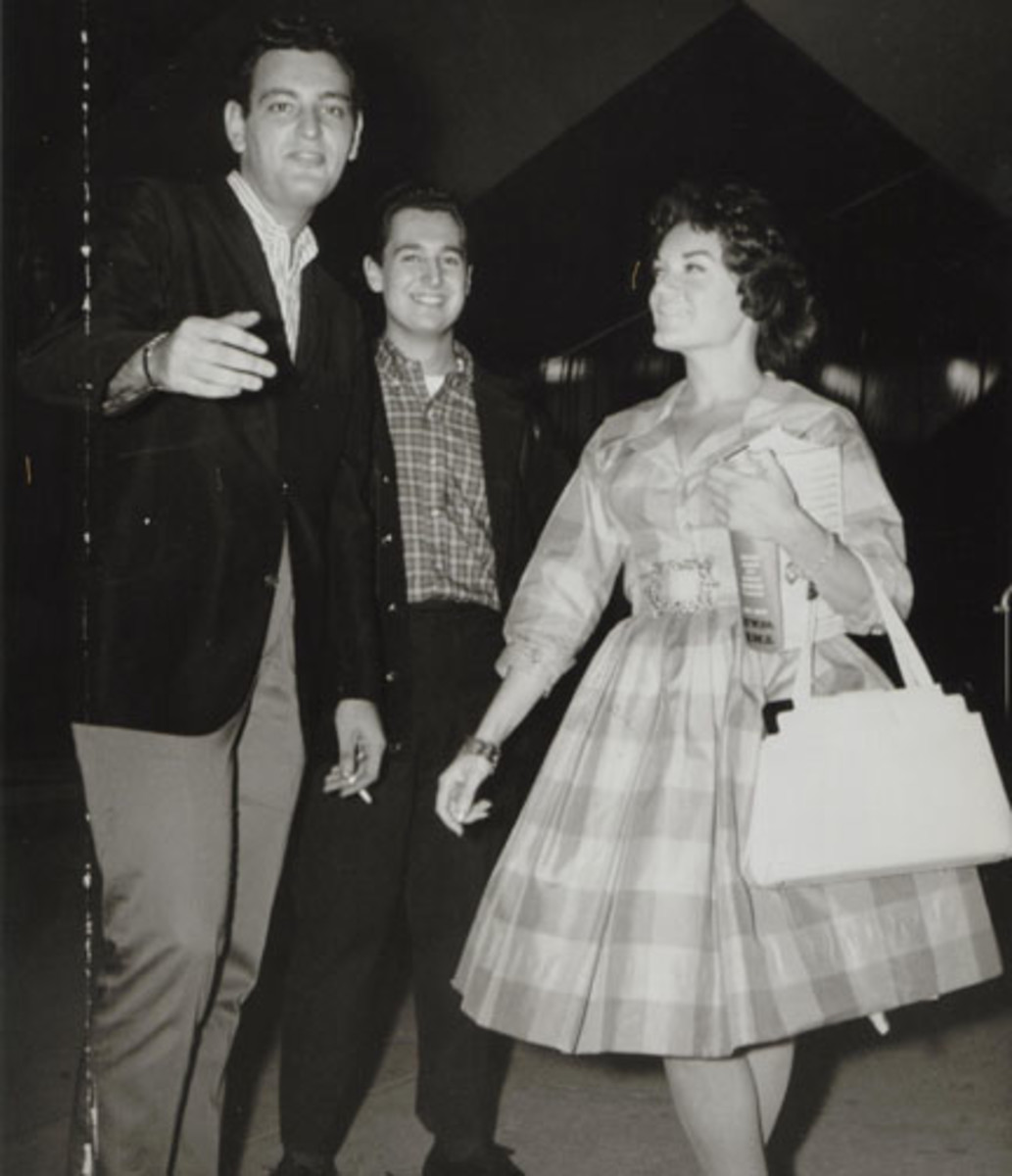 Howard Greenfield with Neil Sedaka and Connie Francis