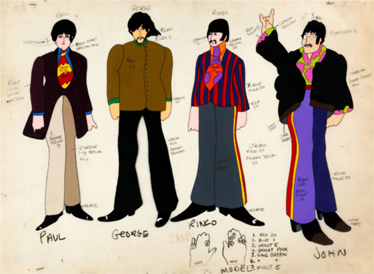 Beatles Yellow Submarine animation cel Heritage Auctions