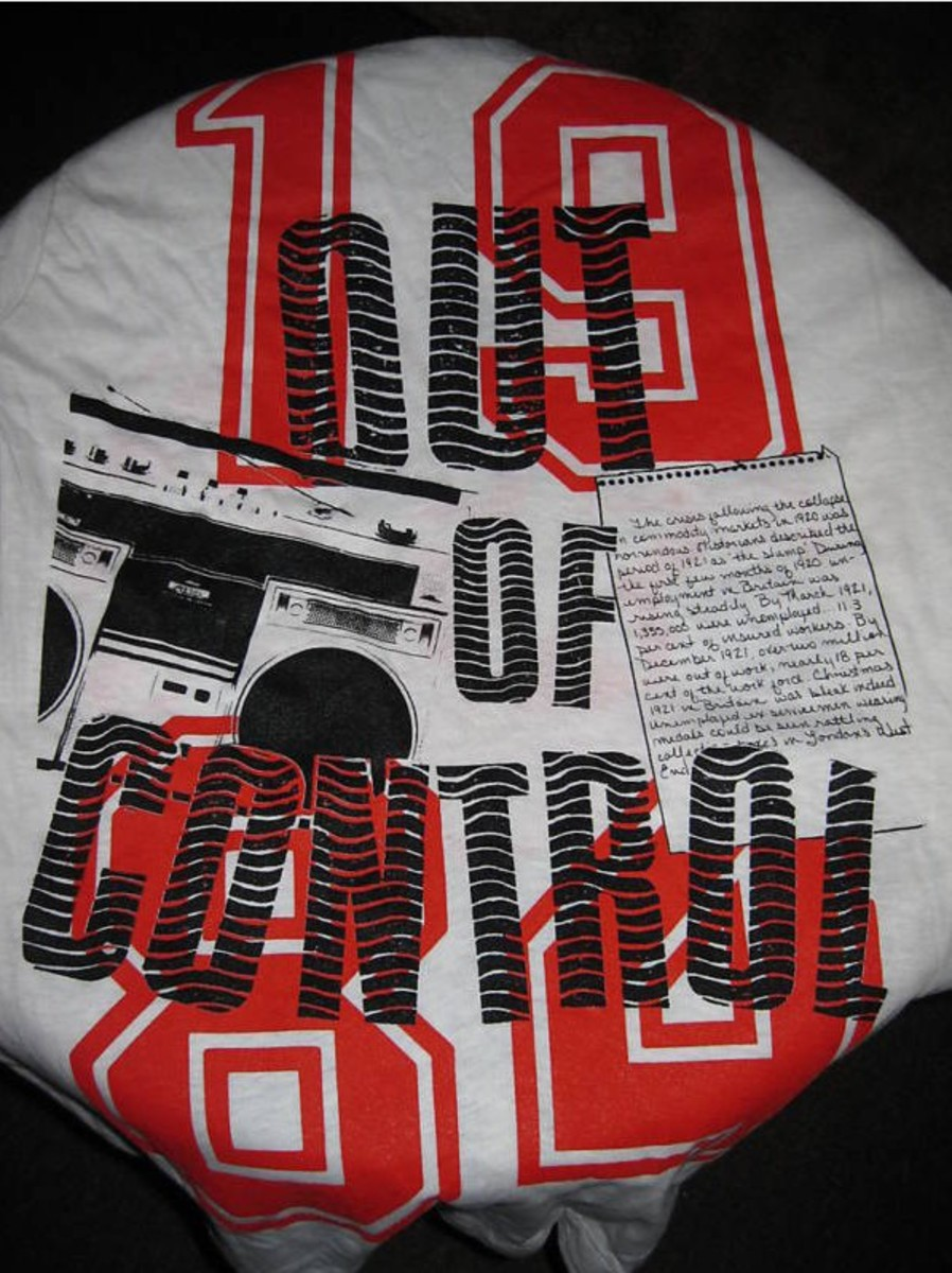 VINTAGE T-SHIRTS are hot collectibles, like this 1984 Clash shirt.. Courtesy of Backstage Auctions