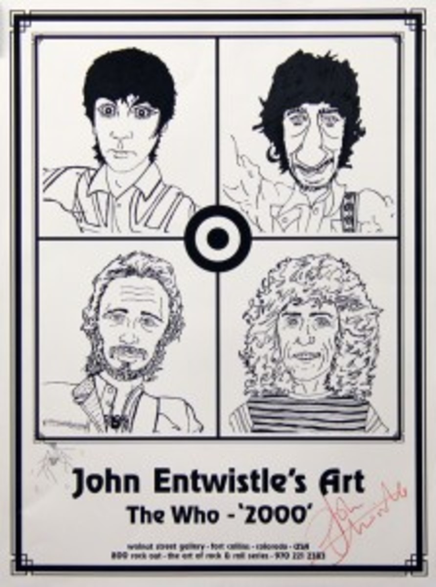 the who john entwistle signed poster