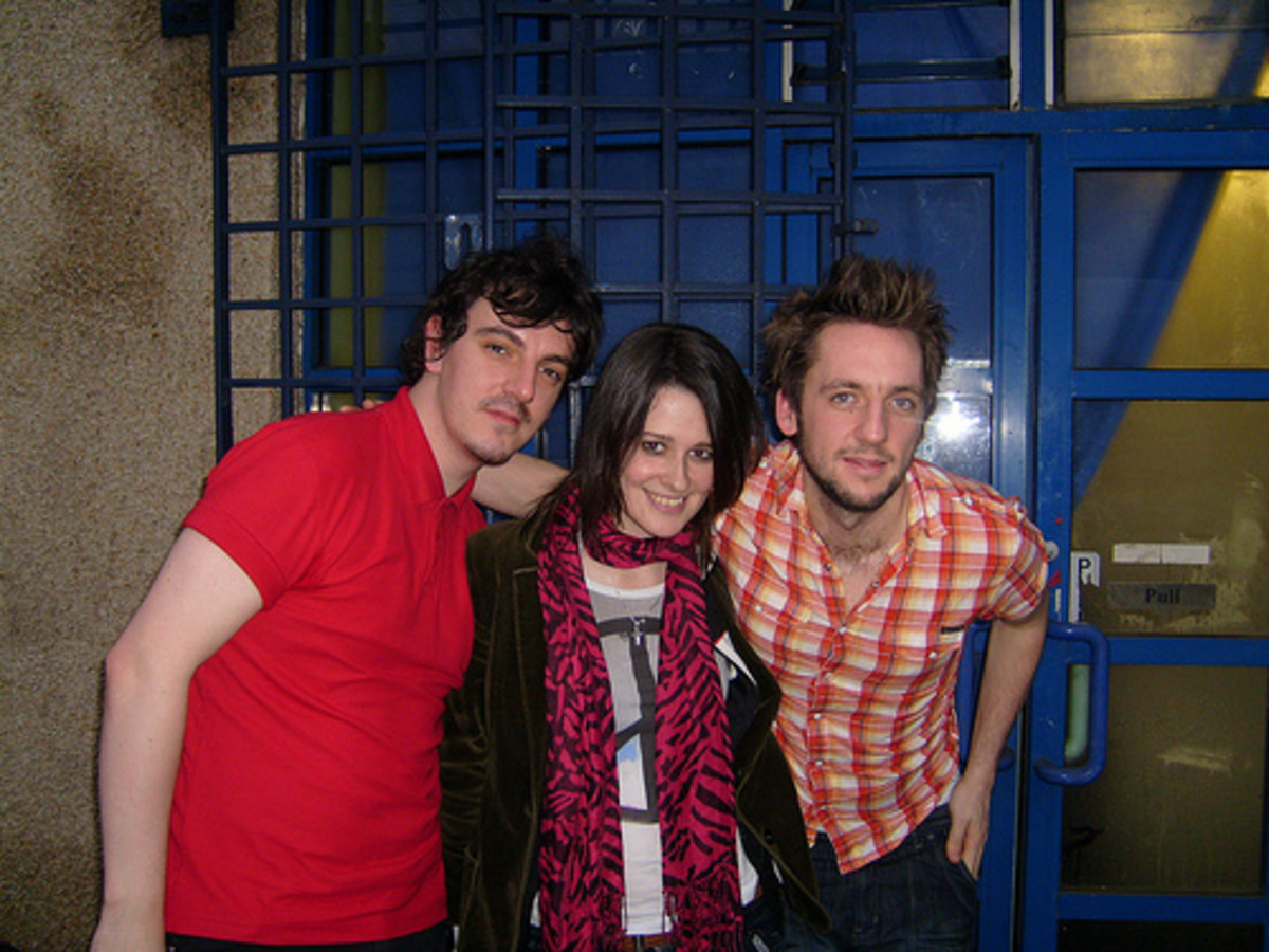 Glasgow's GoGoBot are (left to right) Marko Kelly, Rosie McClune, and Gordon McNeil. (Photo by Jim Gellatly.)