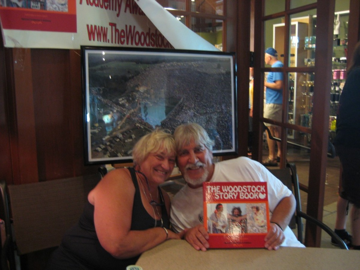 Barry Z Levine and wife Lianne. The Levines are the authors of The Woodstock Story Book, a compilation of his photos of Woodstock '69. Photo by Larissa Lytwyn.