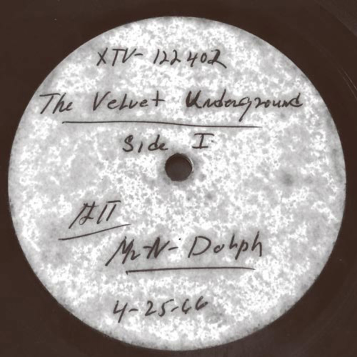 Velvet Underground acetate Shuga Records