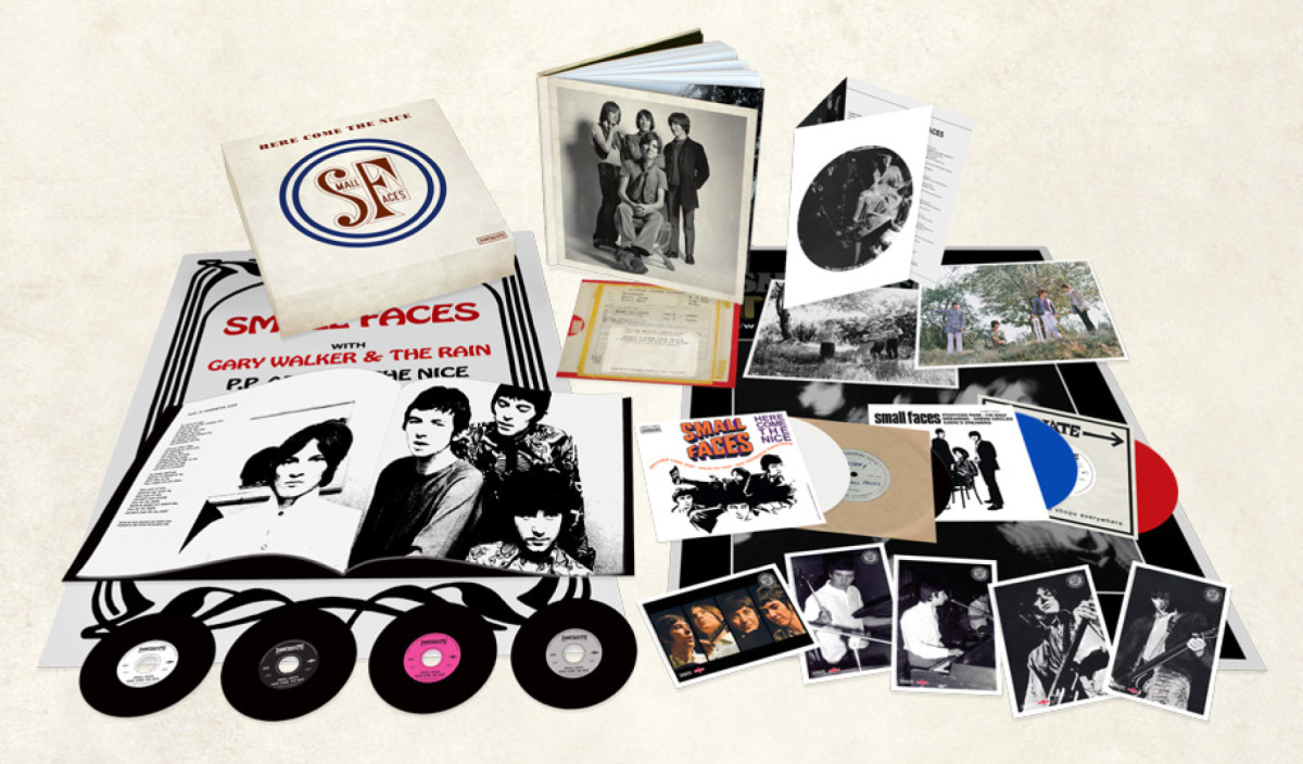 The Small Faces box set released by Charly is limited to 3,000 copies, which were all hand-signed by surviving members Kenney Jones and Ian McLagan. Publicity photo.