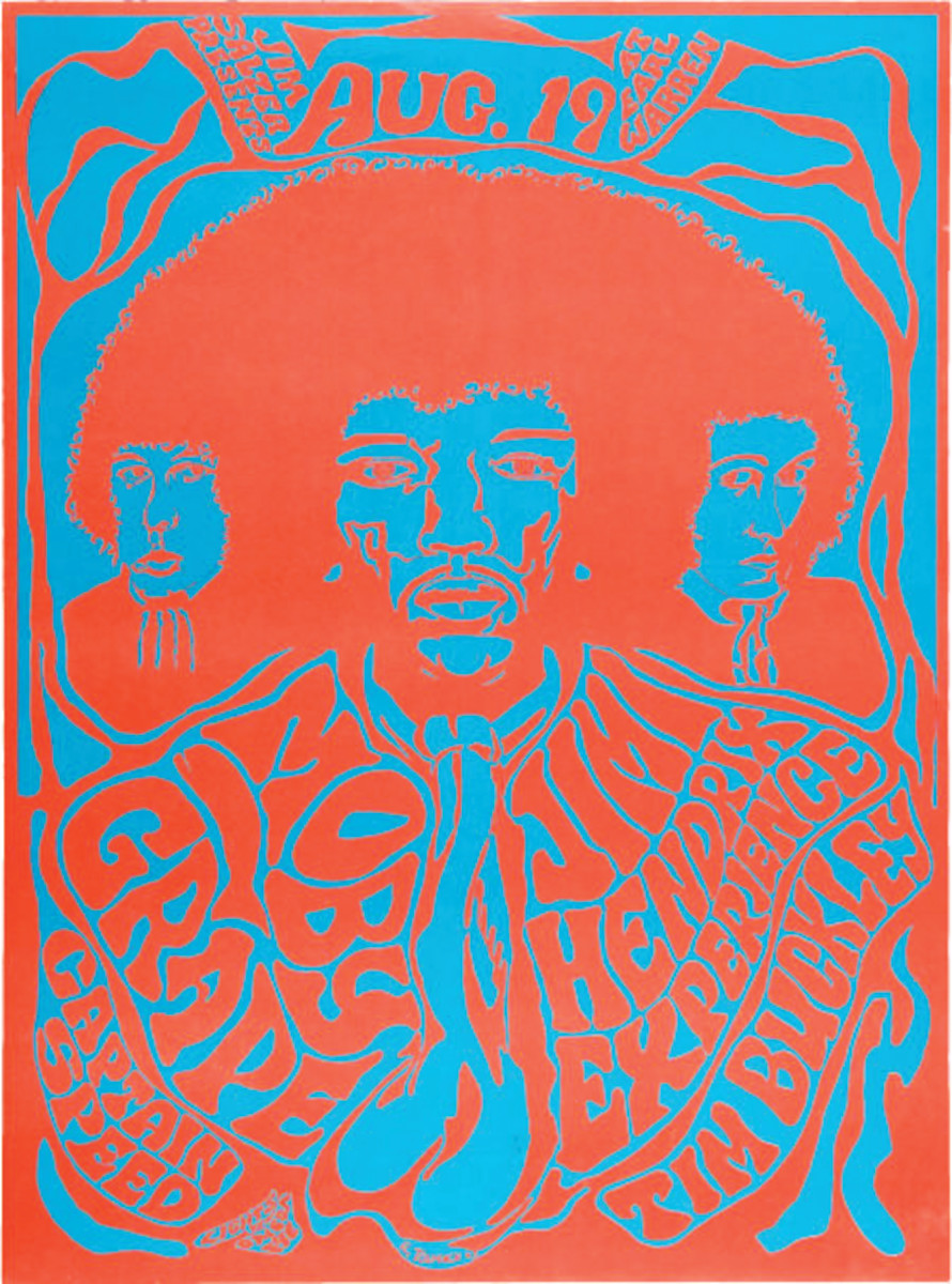 A 1967 concert poster by Jim Salazar. Image courtesy of Heritage Auction