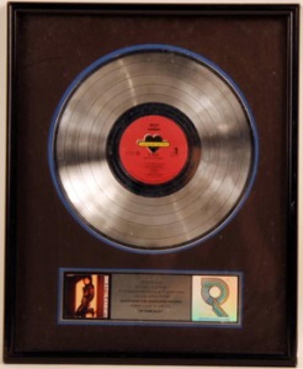 Joan Jett Up Your Alley RIAA award
