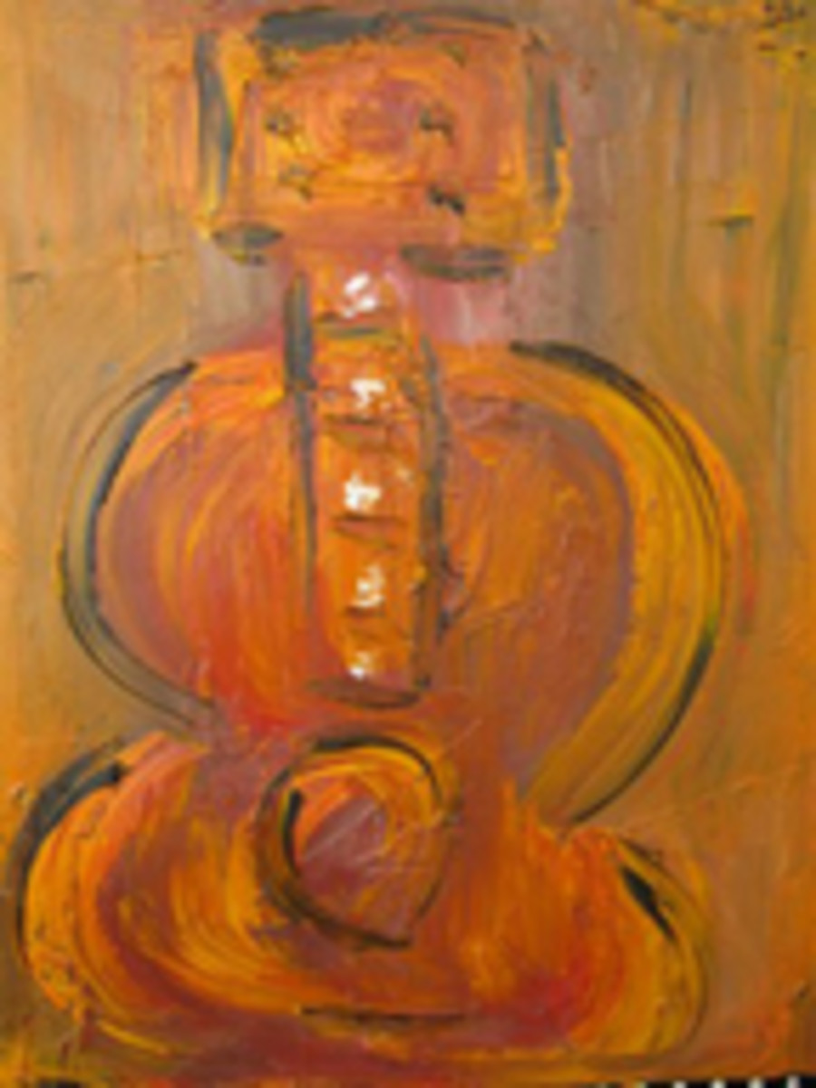 """Kim Simmonds painting, """"Rhapsody in Ab,"""" acrylic on canvas, painted in the 1990's"""