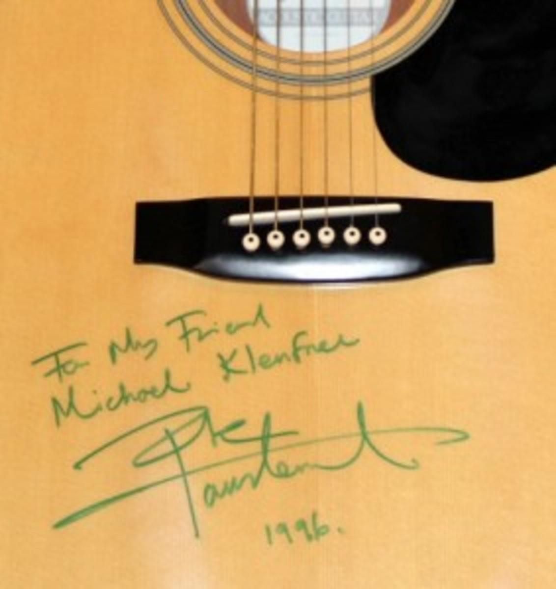 Pete Townshend autographed guitar